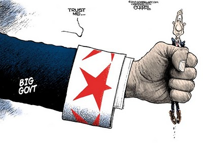 trust big government, obamacartoon