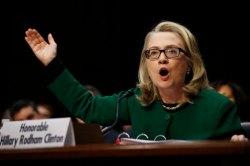 Hillary testifying