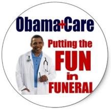 obamacare fun in funeral