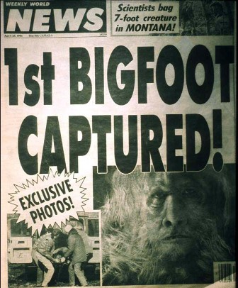 bigfoot Weeklyworld news