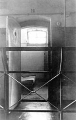 Bonhoeffer's cell at Tegel prison, a 7' x 10' room where he spent 18 months.