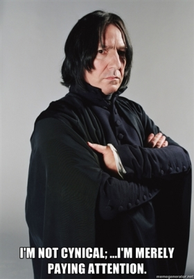 Snape - cynical