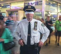 Blindfolded NYC police