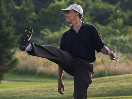 Obama golf 6