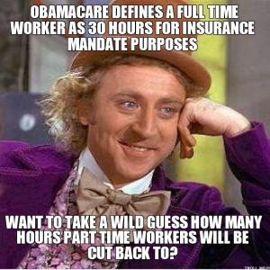 Wonka - Obamacare part time
