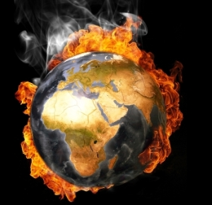 AGW - globe on fire 444