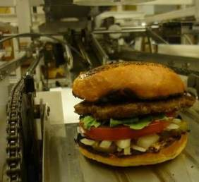 Alpha - burger robot