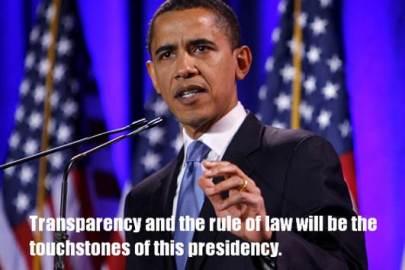 Transparency - Obama