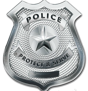 Eloquent image inside printable police badges