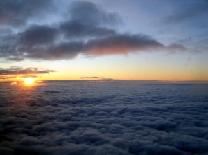 """Sunrise over Europe"" photo by Regan Clem"