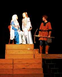 Scene from all for One's production, 2/6/14.
