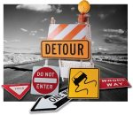 roadblock signs