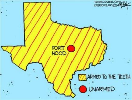 Ft Hood vs Texas - Chip Bok