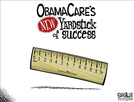 Obamacare - New measurement - Eric Allie - 4-16-2014