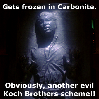 Han Solo - carbonite - Koch brothers