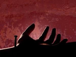 jesus nail pierced hand